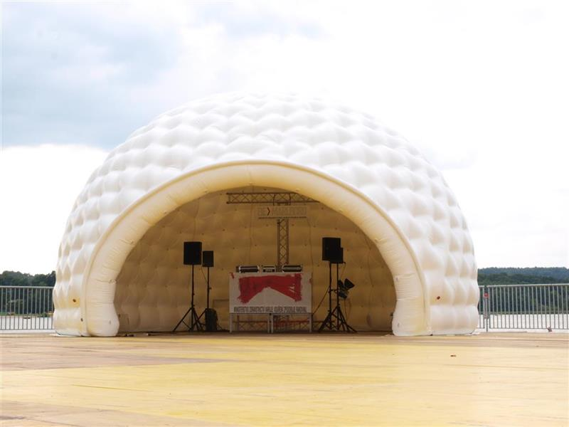 Futuristic DJ Tent - aiRdome  sc 1 st  aiRdome aiRblox u0026 fullDome Event Tents & Event-tent aiRdome - Eyecatcher at events | Inflatabale Tents