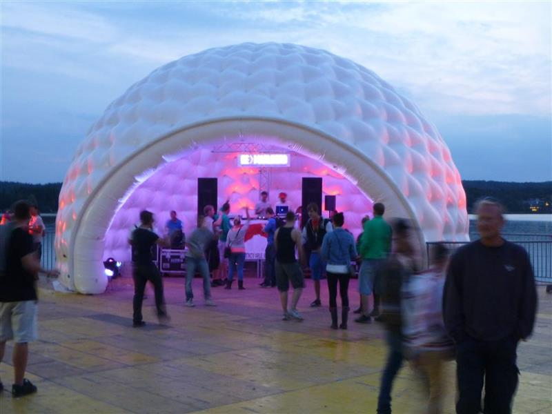 Futuristic DJ Tent - aiRdome & Event-tent aiRdome - Eyecatcher at events | Inflatabale Tents