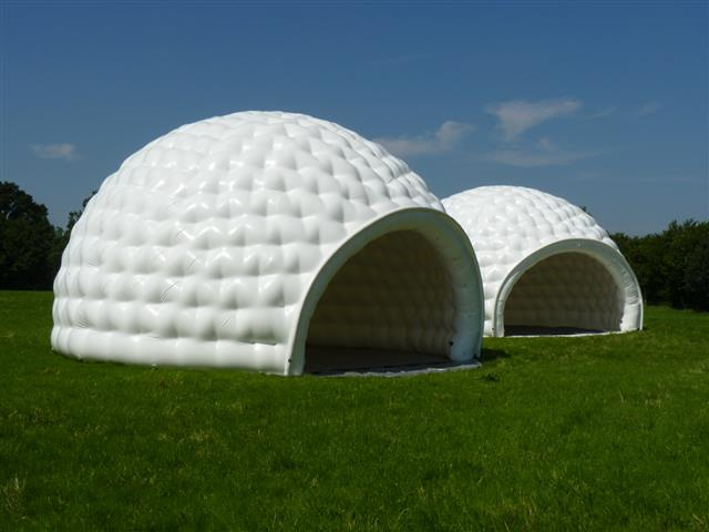 Multiple aiRdomes can be combined to groups and can be even connected with connecting modules & aiRdome - Inflatable tents | Inflatabale Tents